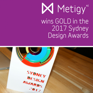 Metigy wins a Gold Award in the 2017 Sydney Design Awards Logo