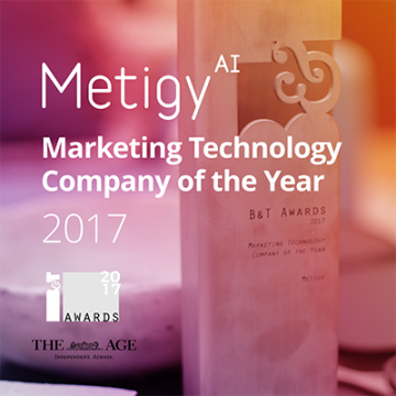 Metigy named 2017 Marketing Technology Company of the Year Logo