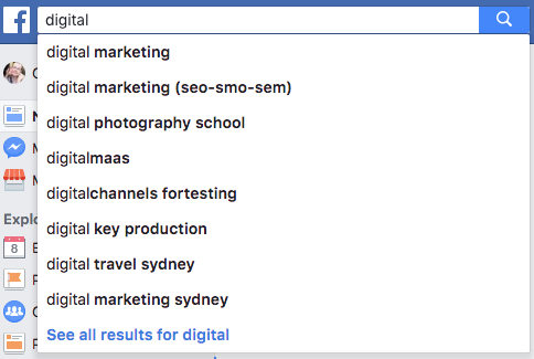 Exploring Facebook Auto-complete suggestions