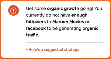 Get more followers to encourage organic growth - Metigy AI Action Cards