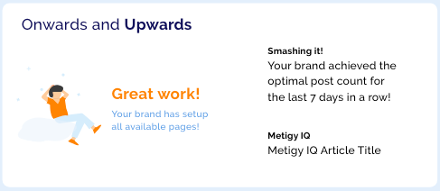 Marketing Achievement Example Card - Metigy AI