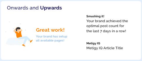 Marketing Achievement Example Card - Metigy AI