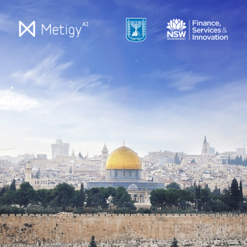 Metigy selected for the NSW Innovation/Austrade AI trade mission to Israel Logo