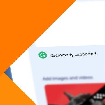 Metigy integrates Grammarly Logo