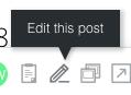 Edit a post button