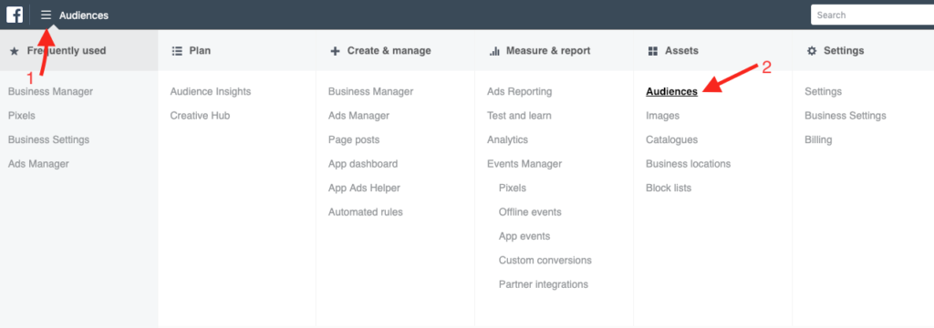 Access Facebook Business Manager Audiences