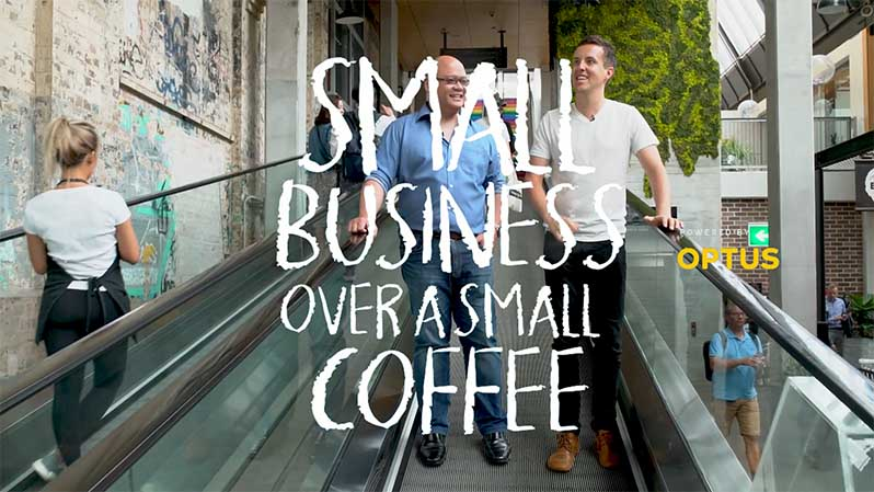 small business over a small coffee