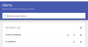 Active Google Alerts