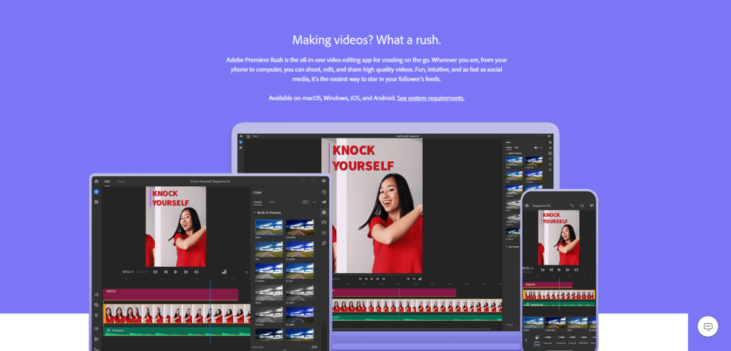Adobe Premiere Rush is just one of the essential tools for posting to Instagram.