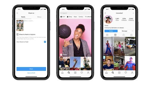 Examples of video being used as part of Instagram strategies.