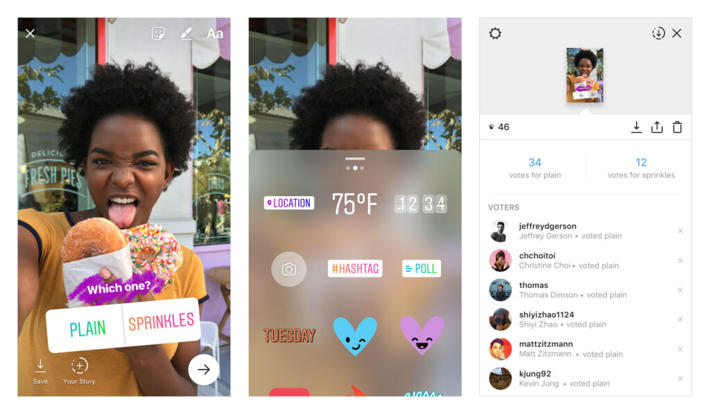 Use polls to create new Instagram ideas and content.