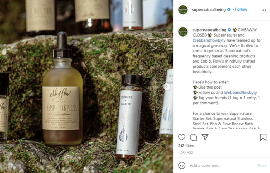 Giveaways like this one can boost your Instagram content.